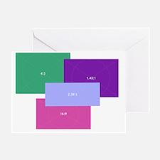 Aspect Ratio Color Blocks Greeting Card