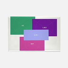 Aspect Ratio Color Blocks Rectangle Magnet