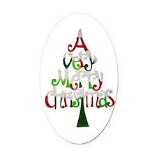 Christmas Tree Oval Car Magnet