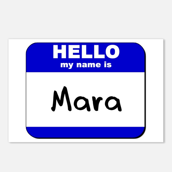 hello my name is mara  Postcards (Package of 8)