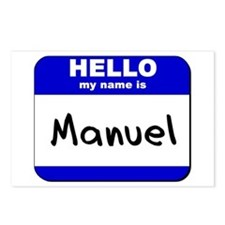 hello my name is manuel  Postcards (Package of 8)