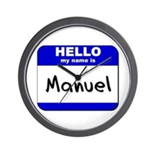 hello my name is manuel  Wall Clock