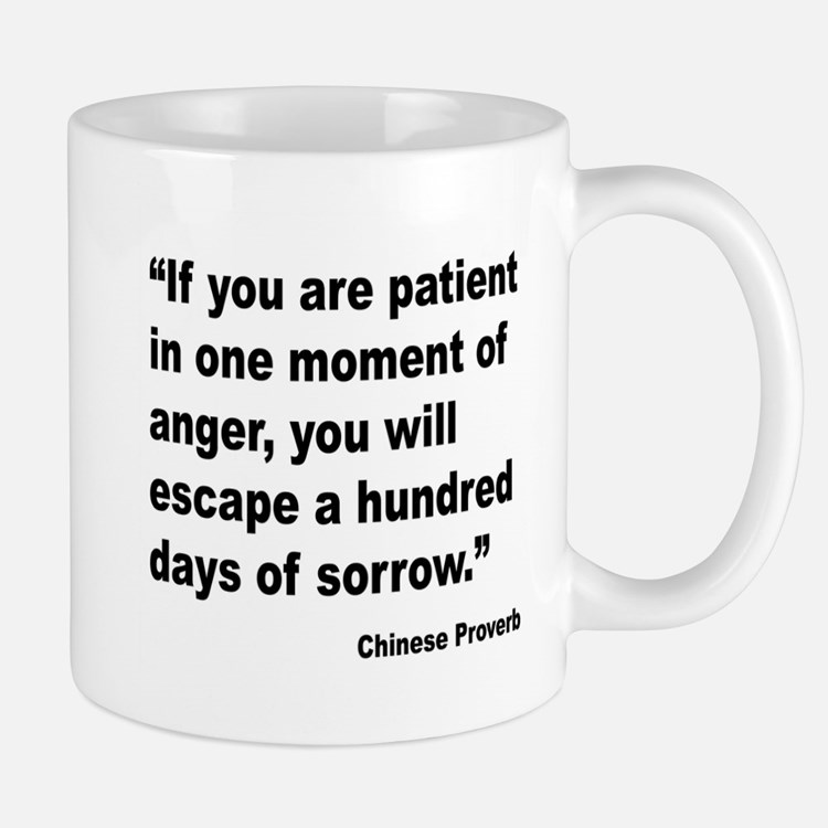 Patient Anger Sorrow Proverb Large Mugs