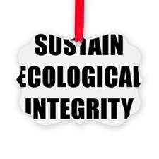 SUSTAIN ECOLOGICAL INTEGRITY BK Ornament