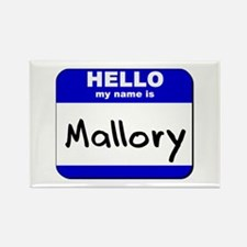 hello my name is mallory Rectangle Magnet