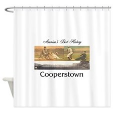 Cooperstown Americasbesthistory.com Shower Curtain