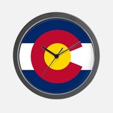 Flag of Colorado Wall Clock