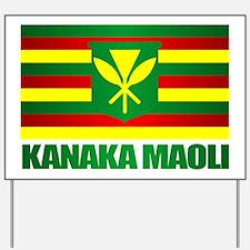 Kanaka Maoli Flag Yard Sign