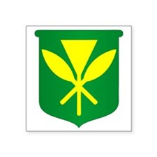 "Kanaka Maoli Square Sticker 3"" x 3"""