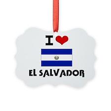 I HEART EL SALVADOR FLAG Ornament