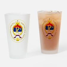 Srpska COA Drinking Glass