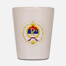Srpska COA Shot Glass