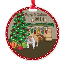 2014 Bulldogs 1St Christmas Round Ornament