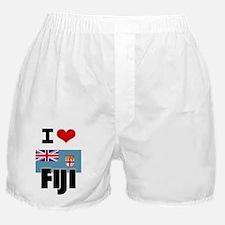 I HEART FIJI FLAG Boxer Shorts