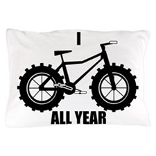 fat tire logo all year Pillow Case