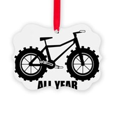 fat tire logo all year Ornament