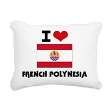 I HEART FRENCH POLYNESIA Rectangular Canvas Pillow