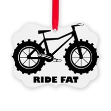 fat tire logo Ride Fat Ornament