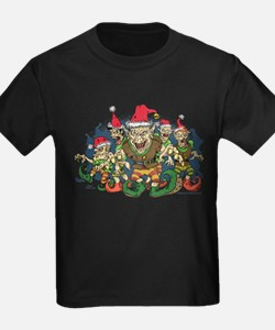 Zombie Elves Holiday Kids T-Shirt