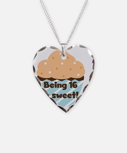 Cupcake Sweet 16 Birthday Necklace