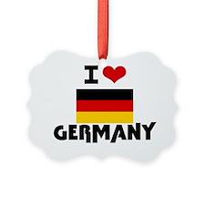 I HEART GERMANY FLAG Ornament