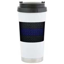 Police Diamond Plate Travel Mug