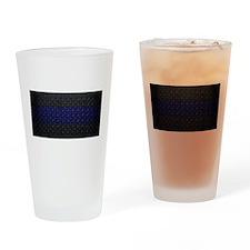 Police Diamond Plate Drinking Glass