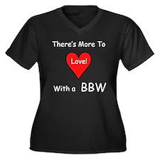 More Love With a BBW Women's Plus Size V-Neck Dark