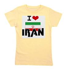 I HEART IRAN FLAG Girl's Tee