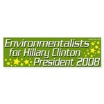 Environmentalists for Hillary Clinton Sticker