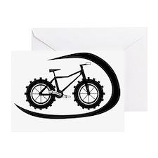 Black swoop fatbike logo Greeting Card