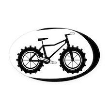 Black swoop fatbike logo Oval Car Magnet