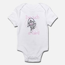 Sock Monkey Girl Infant Body Suit