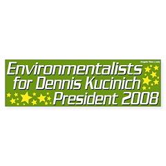 Environmentalists for Kucinich 2008 Bumper Sticker