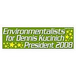 Environmentalists for Kucinich 2008 Sticker