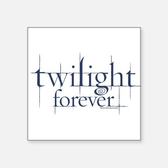 Twilight Forever Logo 1 Square Sticker 3&Quot; X 3