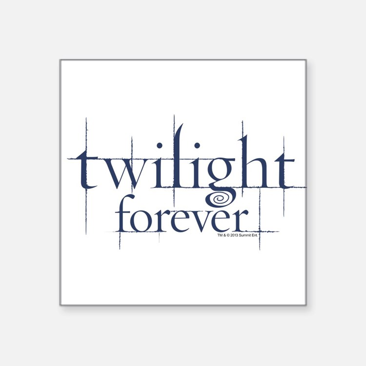 Twilight Forever Logo 1 Square Sticker 3&Quot; X 3