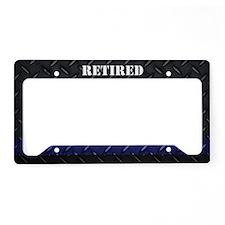 Retired Police License Plate Holder