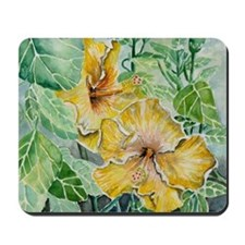 tropical exotic hibiscus flowers Mousepad