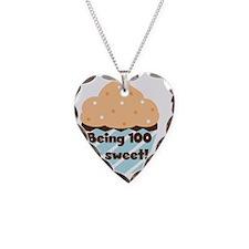 Cupcake Sweet 100 Birthday Necklace