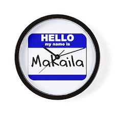 hello my name is makaila  Wall Clock