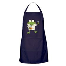 Frog Scientist Apron (dark)