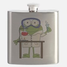 Frog in Science Lab Flask