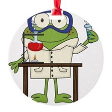 Frog in Science Lab Ornament