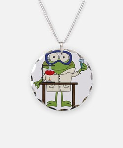 Frog in Science Lab Necklace