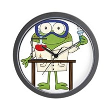 Frog in Science Lab Wall Clock