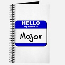 hello my name is major Journal