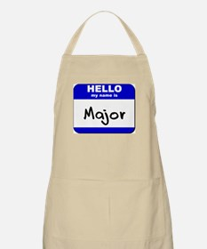 hello my name is major  BBQ Apron