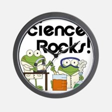 Frogs Science Rocks Wall Clock