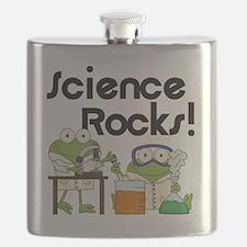 Frogs Science Rocks Flask